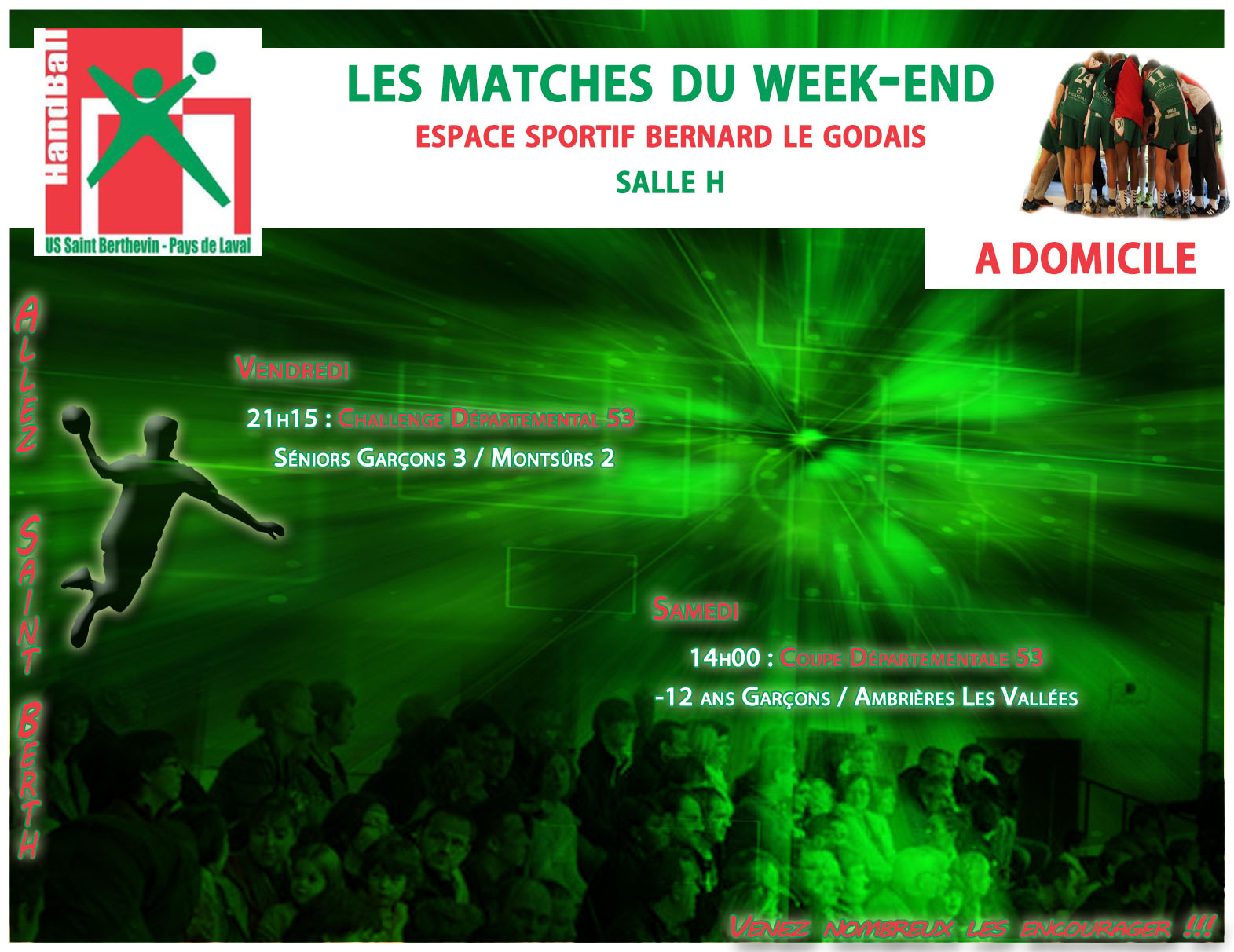LE PROGRAMME DU WEEKEND DU 26/11/2016 A DOMICILE