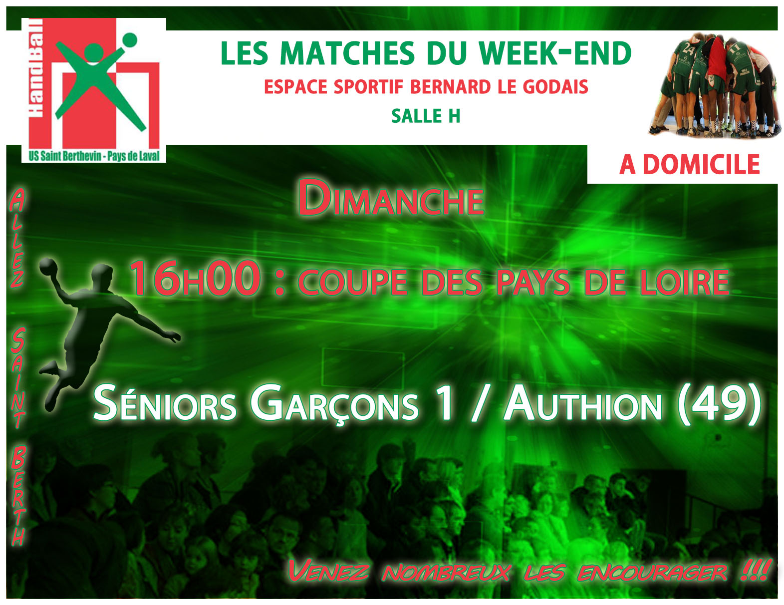 LE PROGRAMME DU WEEKEND DU 17/12/2016 A DOMICILE