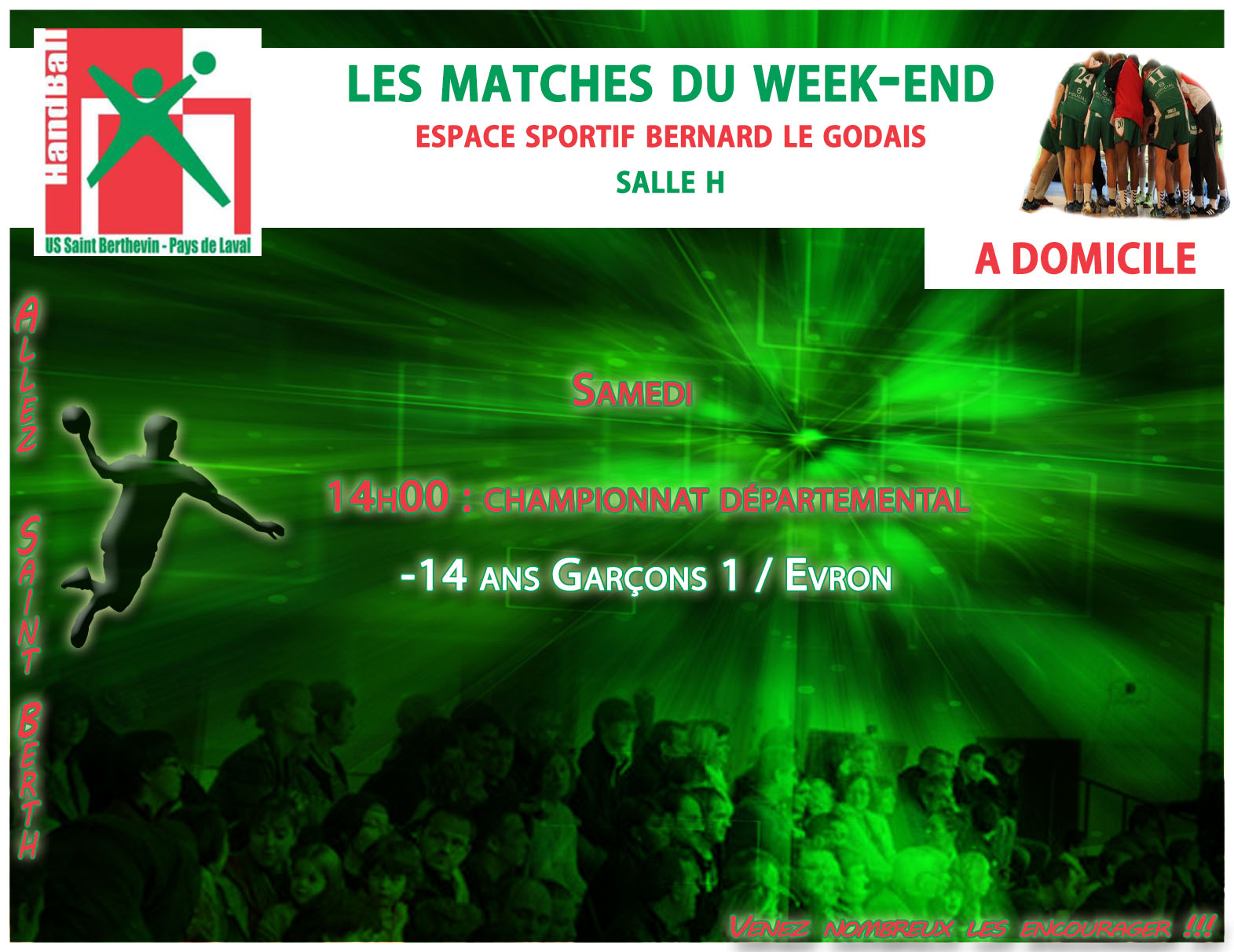 LE PROGRAMME DU WEEKEND DU 07/01/2017 A DOMICILE