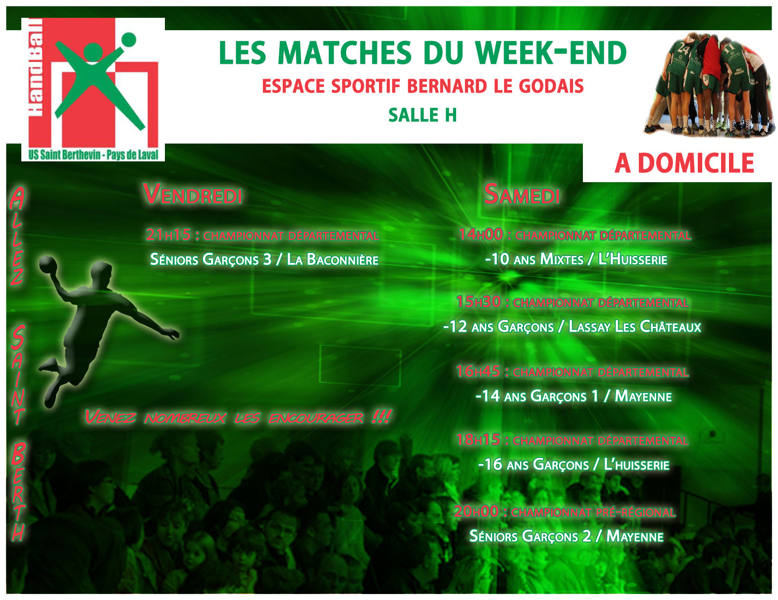 LE PROGRAMME DU WEEKEND DU 04/02/2017 A DOMICILE