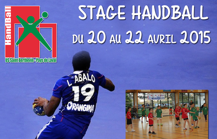 Stage Handball : du 20 au 22 avril 2015