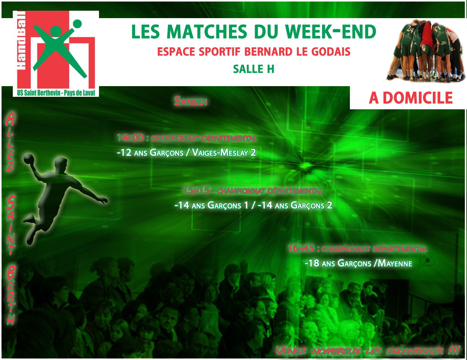 LE PROGRAMME DU WEEKEND DU 19/11/2016 A DOMICILE
