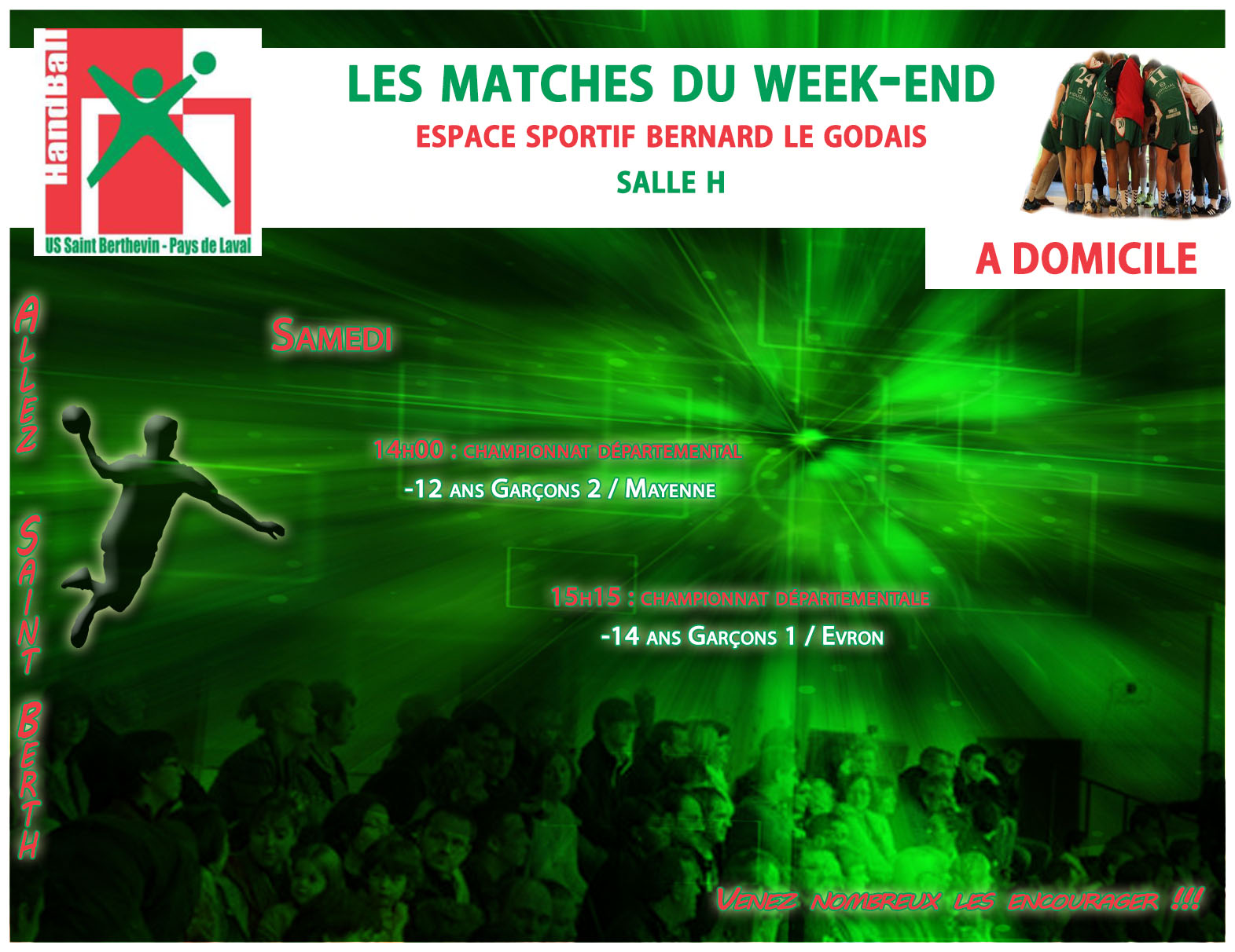 LE PROGRAMME DU WEEKEND DU 01/04/2017 A DOMICILE